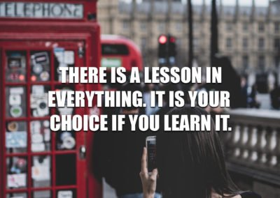 There is a lesson